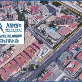 Duplicado llaves coche en Juanjo Cerrajeros Automoción Alicante